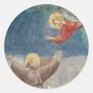 St. Francis Jesus keychain mug ipod ipad cover pet Round Sticker