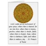 St. Francis of Assisi about FAITH Greeting Card