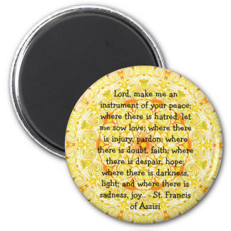 St. Francis of Assisi about FAITH Refrigerator Magnets