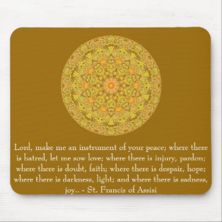 St. Francis of Assisi about FAITH Mouse Pad