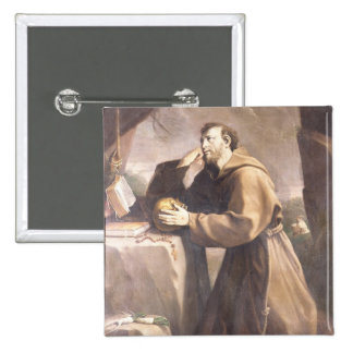 St Francis of Assisi at Prayer Button