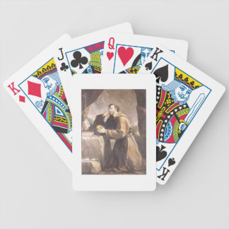 St. Francis of Assisi at Prayer Bicycle Poker Cards