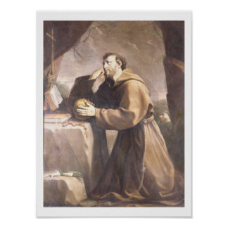 St. Francis of Assisi at Prayer Posters