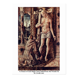 St. Francis Of Assisi Begins Christ'S Blood Postcard