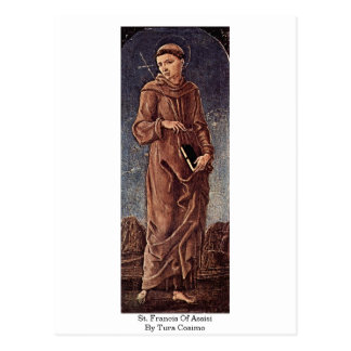 St. Francis Of Assisi By Tura Cosimo Postcard