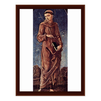 St. Francis Of Assisi By Tura Cosmè Post Cards