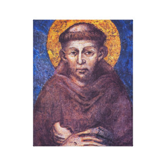 ST FRANCIS OF ASSISI. CANVAS PRINT