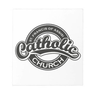 St Francis of Assisi Catholic Church Black White Scratch Pads