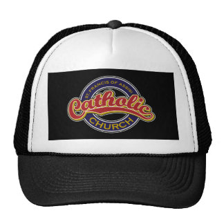 St. Francis of Assisi Catholic Church Red on Blue Mesh Hat