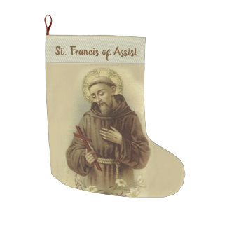 St. Francis of Assisi Large Christmas Stocking