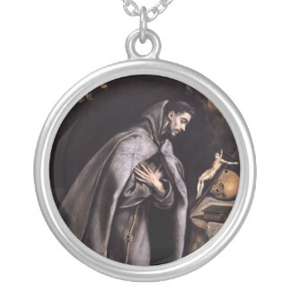 St. Francis of Assisi Round Pendant Necklace