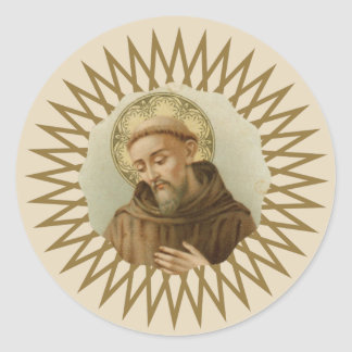 St. Francis of Assisi Patron Saint of Animals Classic Round Sticker