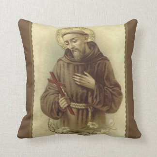 St. Francis of Assisi Patron Saint of Animals Cushion