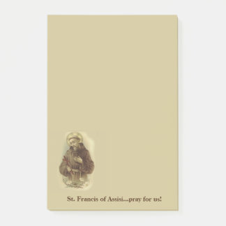 St. Francis of Assisi Patron Saint of Animals Post-it Notes