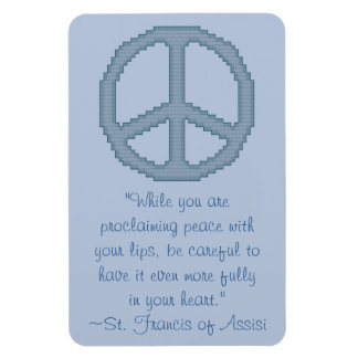 St Francis of Assisi Peace Quote Magnet