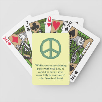 St Francis of Assisi Peace Quote Playing Cards