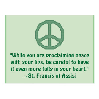 St. Francis of Assisi Peace Quote Post Card