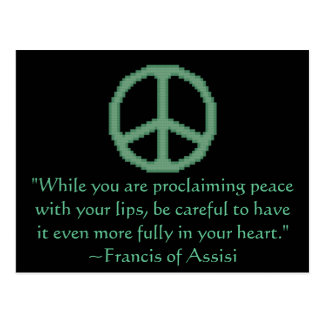 St. Francis of Assisi Peace Quote Post Cards