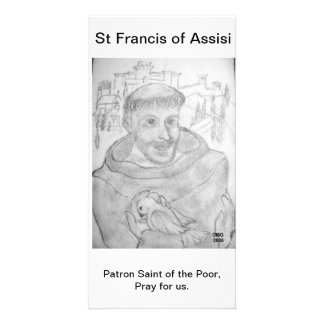 St Francis of Assisi Photo Card Template