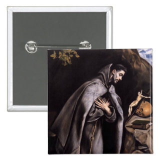 St Francis of Assisi Pinback Button