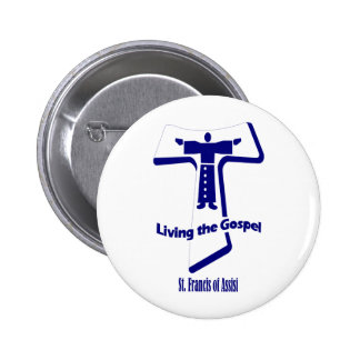 St Francis of Assisi Pinback Buttons