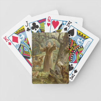 St. Francis of Assisi Preaching to the Animals Bicycle Playing Cards