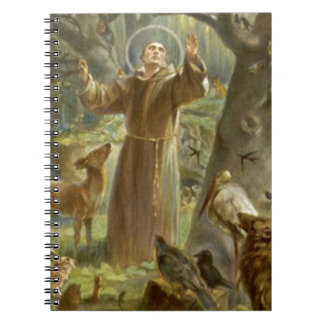 St. Francis of Assisi Preaching to the Animals Note Book