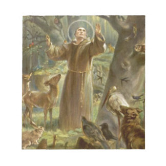 St. Francis of Assisi Preaching to the Animals Notepad