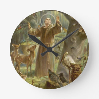 St. Francis of Assisi Preaching to the Animals Wallclocks