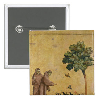 St Francis of Assisi preaching to the birds Pins