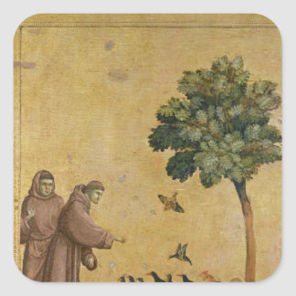 St. Francis of Assisi preaching to the birds Stickers