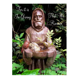 St. Francis of Assisi Quote Postcard