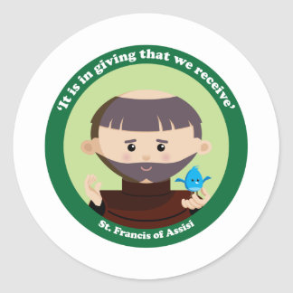 St. Francis of Assisi Round Sticker
