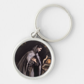 St. Francis of Assisi Silver-Colored Round Key Ring
