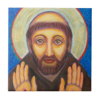 St Francis of Assisi Small Square Tile