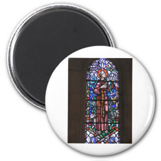 St Francis of Assisi stained glass 6 Cm Round Magnet