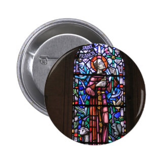 St Francis of Assisi stained glass Pinback Buttons