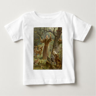St. Francis of Assisi Surrounded by Animals Baby T-Shirt