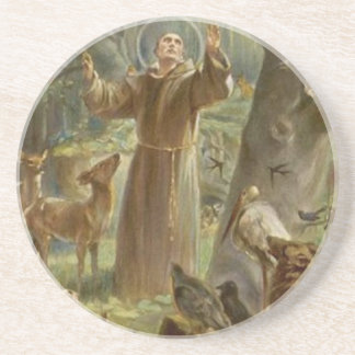 St. Francis of Assisi Surrounded by Animals Coaster