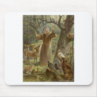 St. Francis of Assisi Surrounded by Animals Mouse Pad