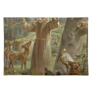 St. Francis of Assisi Surrounded by Animals Placemat