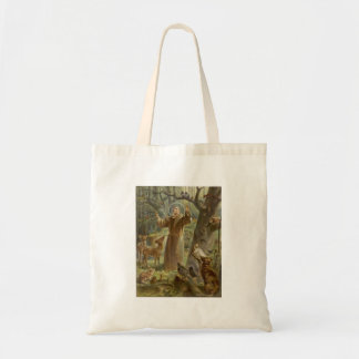 St. Francis of Assisi Surrounded by Animals Tote Bag