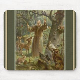 St. Francis of Assisi w/ animals Mouse Pad