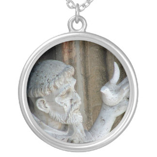 St Francis of Assisi with bird Custom Jewelry