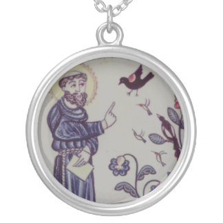 St Francis of Assisi with bird Pendant