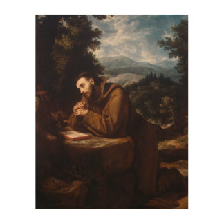 St Francis of Assisi Wood Canvas
