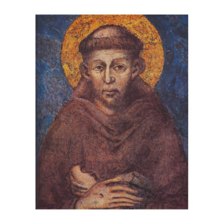 ST FRANCIS OF ASSISI. WOOD CANVASES