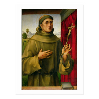 St. Francis of Assissi, c.1490 (tempera on panel) Postcard