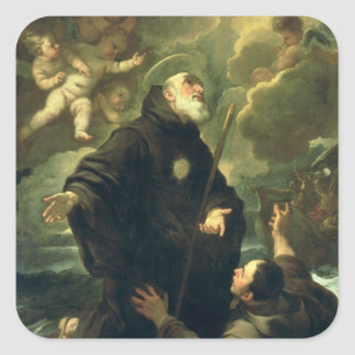 St Francis of Paola, 1416-1507) Square Sticker