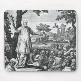 St. Francis of Sales  preaching to the Mousepad